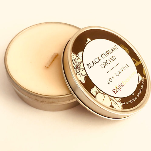 Black Currant Orchid Soy Candle