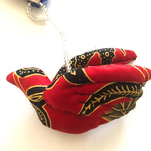 Kitenge Dove Ornament