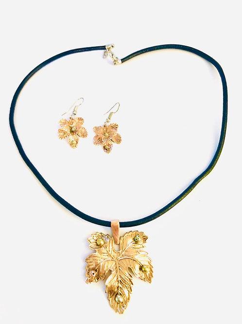 Maple Leaf Jewelry Set