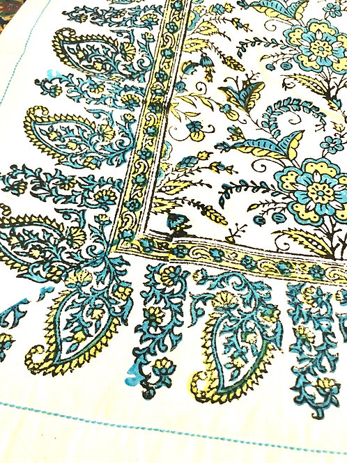 Ivy Peacock Tablecloth