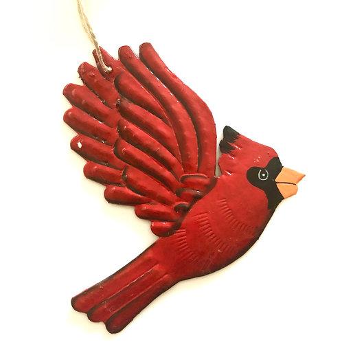 Red Cardinal Metal Art