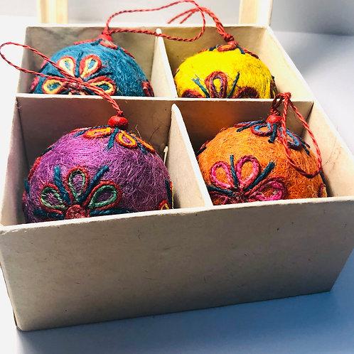 Jute Boxed Ornaments