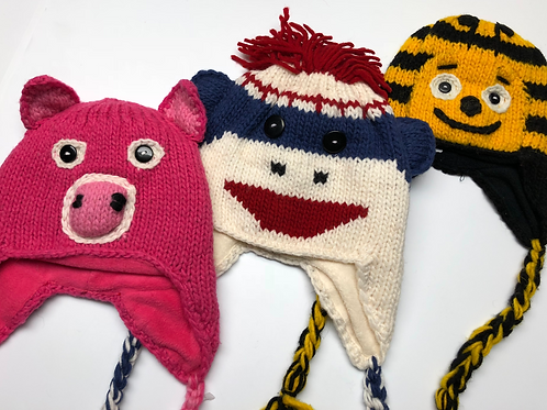 Animal Lined Child's Hat