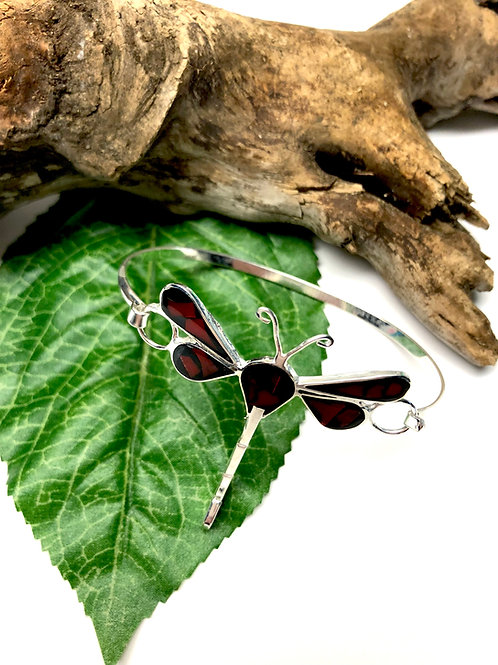 Dragonfly Sterling Silver Bracelet