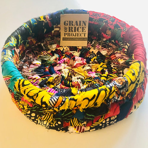 Recycled Batik Fabric Bowl