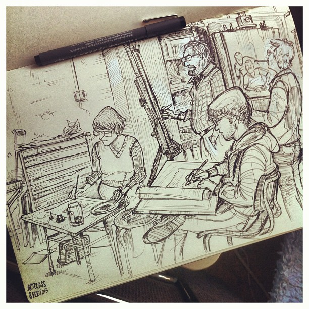 Last friday's figuredrawing class _) #figuredrawing  #lifedrawing  #sketch #sketchbook #illustratie