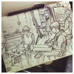 Last friday's figuredrawing class _) #figuredrawing  #lifedrawing  #sketch #sketchbook #illustratie