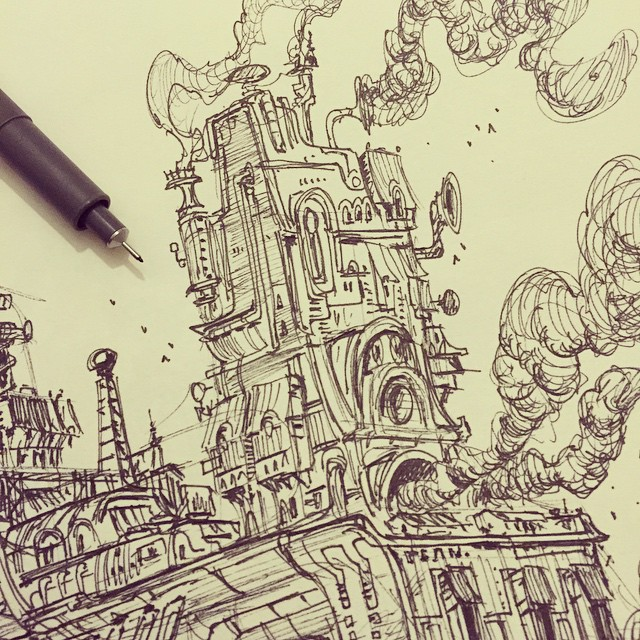 Closeup of my previous post #sketch #sketchbook #draw #drawing #illustration #art #artist #2d #doodl