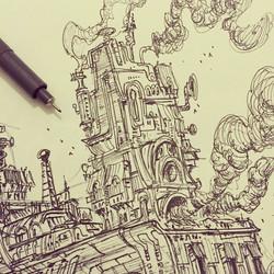 Closeup of my previous post #sketch #sketchbook #draw #drawing #illustration #art #artist #2d #doodl