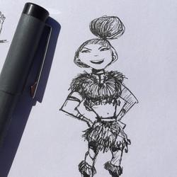 cavegirl doodle  #sketch #sketchbook #draw #drawing #doodle #illustration #design #characterdesign #