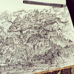 More steampunk sketchbook stuff! #sketch #sketchbook #draw #drawing #illustration #art #artist #2d #