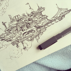 Another skyship thing _) #concept #conceptart #design #visualdevelopment #draw #drawing #art #artist
