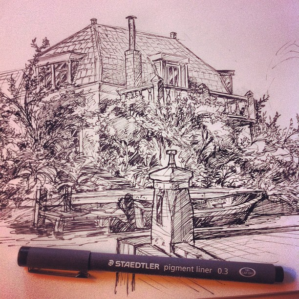 A sketch I did after work in Leiden #sketch #sketchbook #cool #art #doodle #doodles