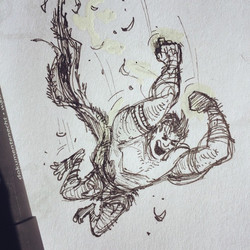 Another one from yesterdays doodle session  #sketch #sketchbook #draw #drawing #doodle #illustration
