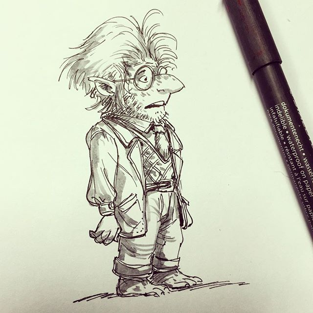Doctor goblin #sketch #sketchboek #sketchbook #drawing #draw #illustration #design #doodle #visualde