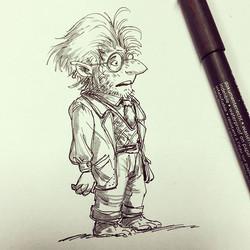 Doctor goblin #sketch #sketchboek #sketchbook #drawing #draw #illustration #design #doodle #visualde