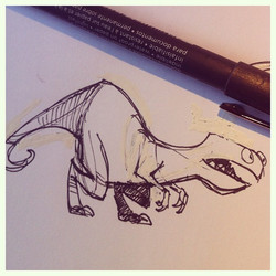 Aaaaand back to dinosaurs! _D #dinosaur #doodle #character #characterdesign #sketch #sketchbook #dra