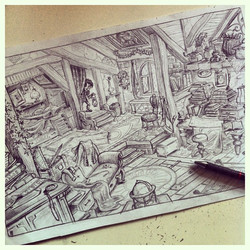 The finished drawing! _) #visualdevelopment #giant #pencil #sketch #sketchbook #concept #conceptart