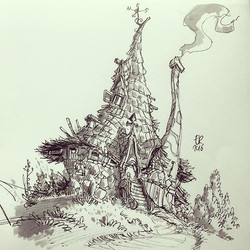 Wizard house doodle #concept #sketch #sketchbook #draw #drawing #instaart #daily_sketch #artworkinst