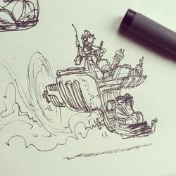 Riksja taxi thing #sketch #sketchbook #draw #drawing #conceptart #art #artist #concept #design #illu