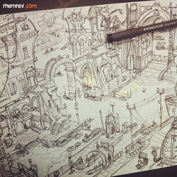 City sketch _) #swampmaffia #pensketch #sketch #sketchbook #draw #drawing #art #artist #animation #d
