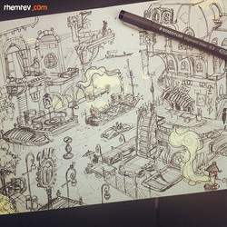 Another area of Undertow City _) #swampmaffia #pensketch #sketch #sketchbook #draw #drawing #art #ar