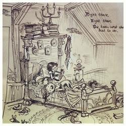 Closeup of Sophies bed _) #pen #giant #design #art #sketch #sketchbook #draw #drawing #doodle #anima