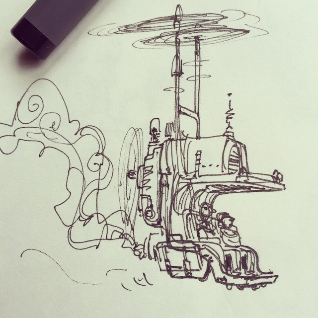 Helicopter sketch _)#concept #conceptart #design #visualdevelopment #draw #drawing #art #artist #ani