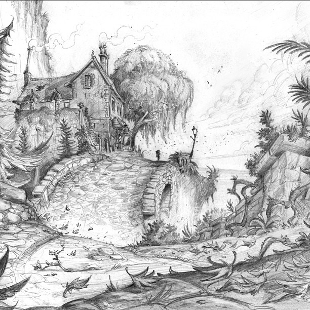 Another environment design _) #draw #pencil #drawing #illustration #sketch #giant #sketchbook #doodl