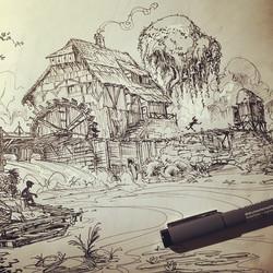 Todays pensketch! _) #inktober #sketchbook #sketch #draw #design #drawing #illustration #setdesign #