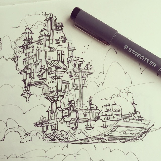 Sketch for a new personal project _)#concept #conceptart #design #visualdevelopment #draw #drawing #