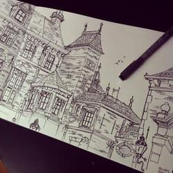 Binnenhof, Den Haag _) #sketch #sketchbook #ink #doodle #illustration #architecture #denhaag #binnen