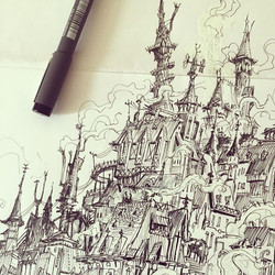 Close up _) #city #drawing #draw #illustration #concept #conceptart #art #characterdesign #visualdev