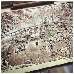 Another outdoor sketch #zuiderpark #denhaag #sketch #sketchbook #doodle #illustratie #illustration #