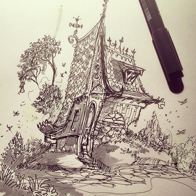 House doodle #sketch #sketchbook #draw #drawing #concept #pen #illustration #concept #conceptart #da