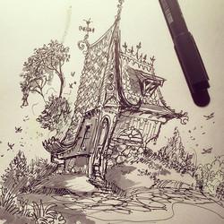 House doodle #sketch #sketchbook #draw #drawing #concept #pen #illustration #concept #conceptart #da