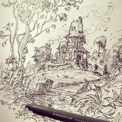 The complete drawing _) #sketch #sketchbook #sketch_daily #artsanity #arts_gallery #drawing #draw #d