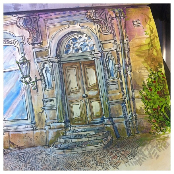 Watercolor study done on location a while back _) #the hague #watercolor #doodle #sketchbook #sketch