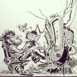'Game on' drawing #game #gaming  #goblin #sketch #sketchbook #drawing #pen #pensketch #tekenen  #gob
