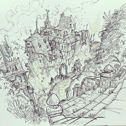 The final pensketch _) #retreat #vacation  #relax #draw #drawing #setdesign #sketchbook #artfeatures