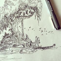 Treeboy #sketchbook #ink #conceptart #concept #illustration #doodle #draw #drawing #doodling #art #a