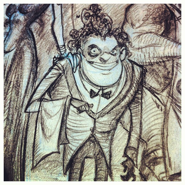Closeup _) #monster #restaurant #character #pencil #portfolio #sketch #sketchbook #draw #drawing #il