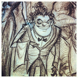Closeup _) #monster #restaurant #character #pencil #portfolio #sketch #sketchbook #draw #drawing #il