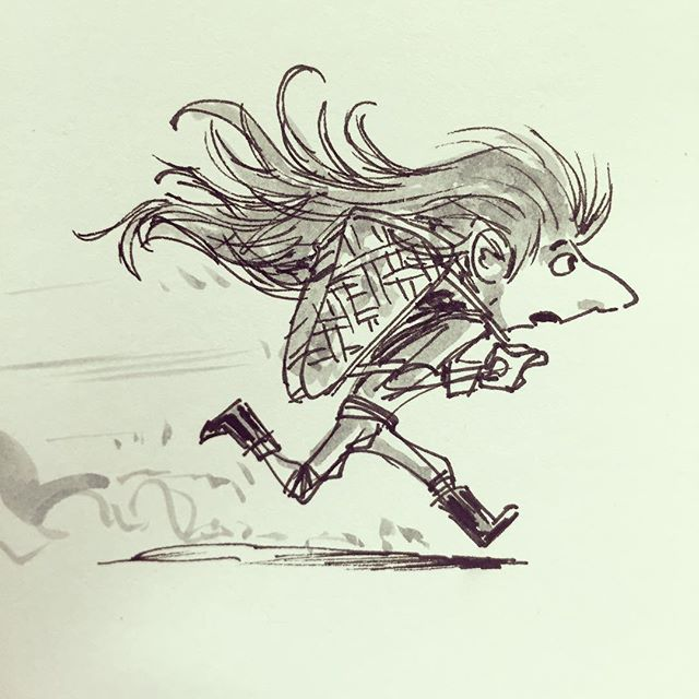 Hurry! #goblin #sketch #sketchbook #drawing #draw #illustration #design #characterdesign #childrensb