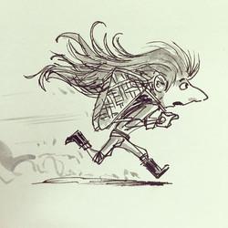 Hurry! #goblin #sketch #sketchbook #drawing #draw #illustration #design #characterdesign #childrensb