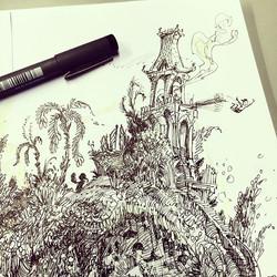 Closeup #sketchbook #ink #conceptart #concept #illustration #doodle #draw #drawing #doodling #art #a