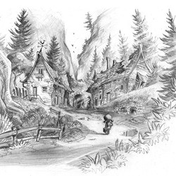 An environment design for my project, done in pencil  #draw #pencil #drawing #illustration #sketch #