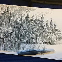 complete drawing  #inktober #ink #sketch #inkwash #sketchbook #drawing #illustration #conceptart #dr