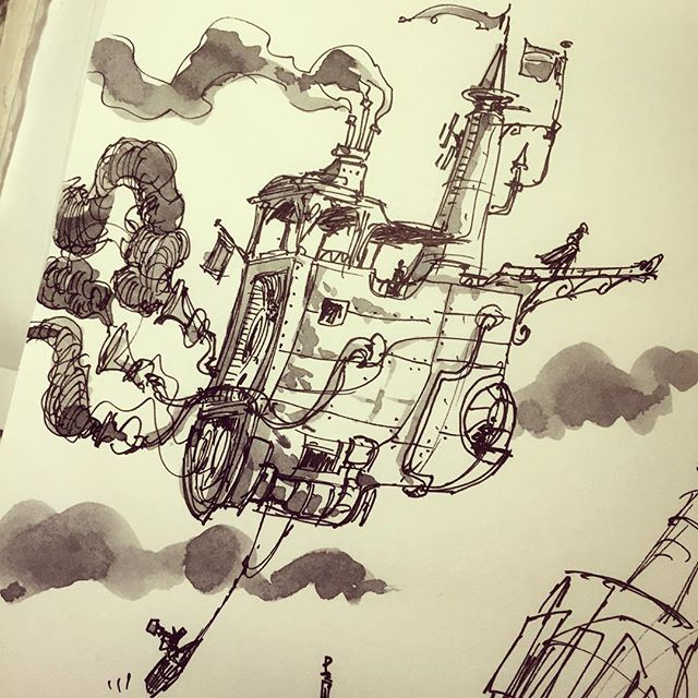 Junkboatship doodle #doodle #drawing #sketchbook #sketch #illustration #design #artpics #arts_help #