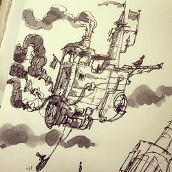 Junkboatship doodle #doodle #drawing #sketchbook #sketch #illustration #design #artpics #arts_help #